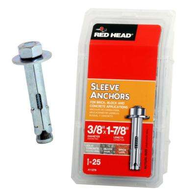 3/8 in. x 1-7/8 in. Hex Sleeve Anchor (25-Pack)