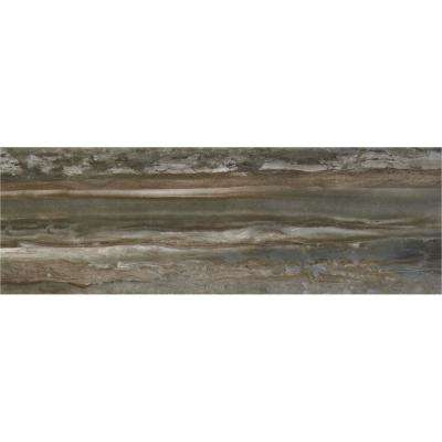 Sanford Smoke Polished 12 in. x 36 in. Color Body Porcelain Floor and Wall Tile (11.4 sq. ft. / case)