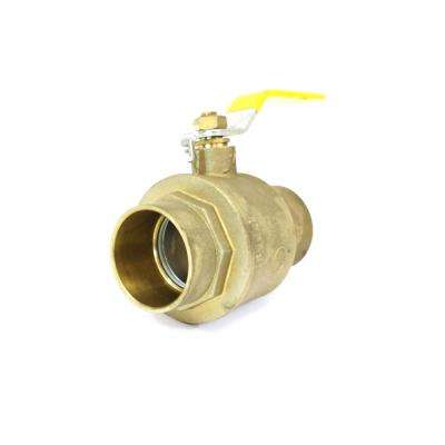 1/2 in. Lead Free Brass Industrial Socket FPT x FPT Ball Valve (10-Pack)