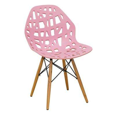 Stencil Cut Out Pink Eiffel Dining Side Chair (Set of 2)