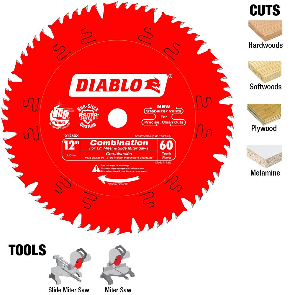 Diablo 12 in. x 60-Tooth Combination Saw Blade