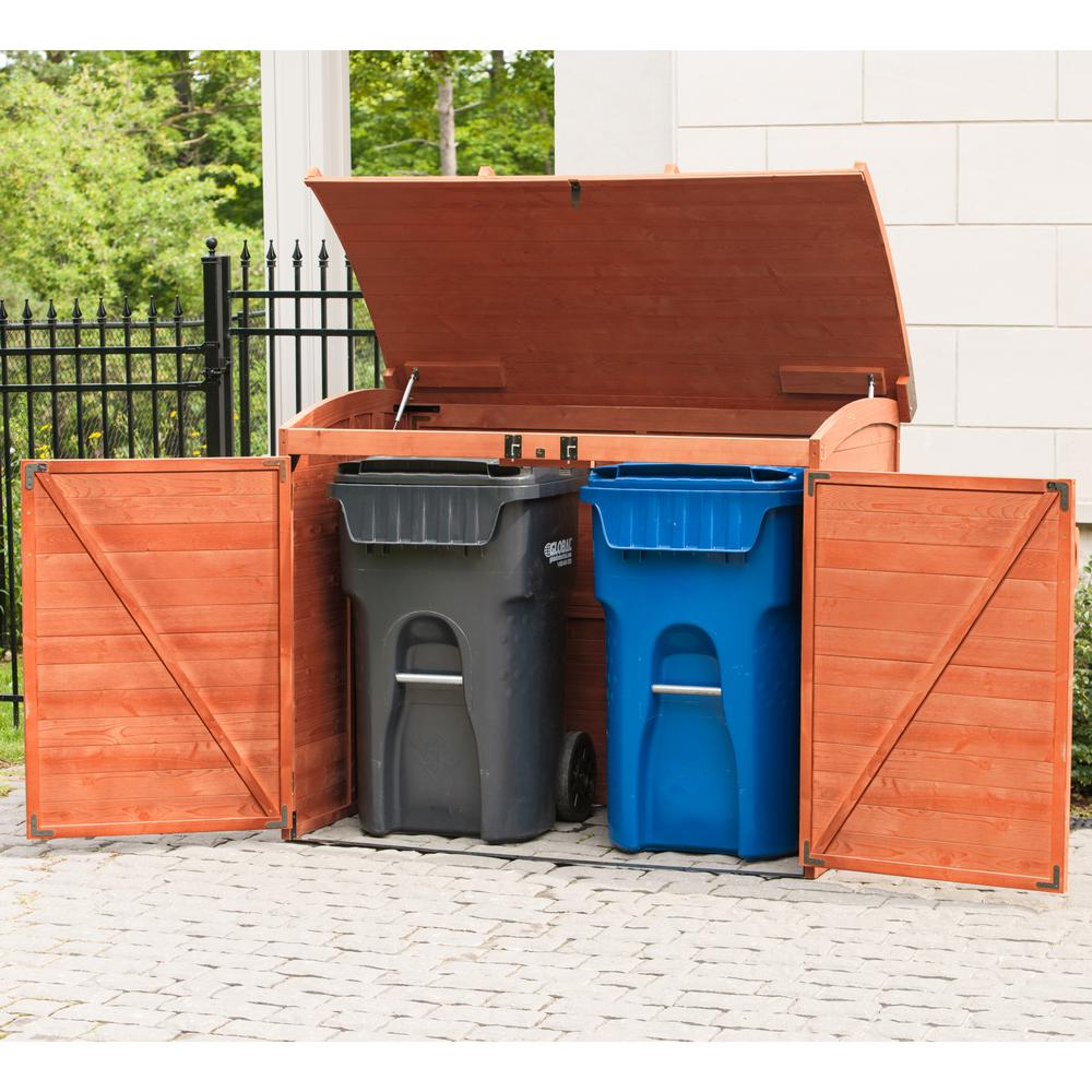 Leisure Season 5 ft. 2 in. x 2 ft. 10 in. x 4 ft. Cypress Horizontal Refuse Storage Shed