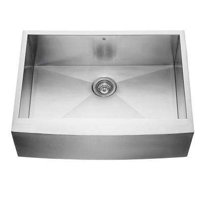 Farmhouse Apron Front Stainless Steel 30 in. Single Basin Kitchen Sink