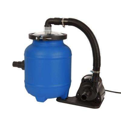 16 in. Soft-Sided Pool Filter System with Cotton Tails Media (Sand Replacement) 0.1 HP Pump