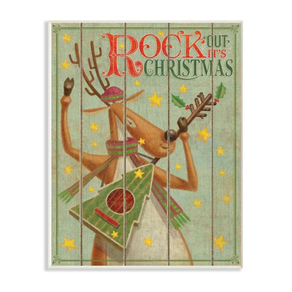 Stupell Industries 10 in. x 15 in. ''Holiday Vintage Music Rock
