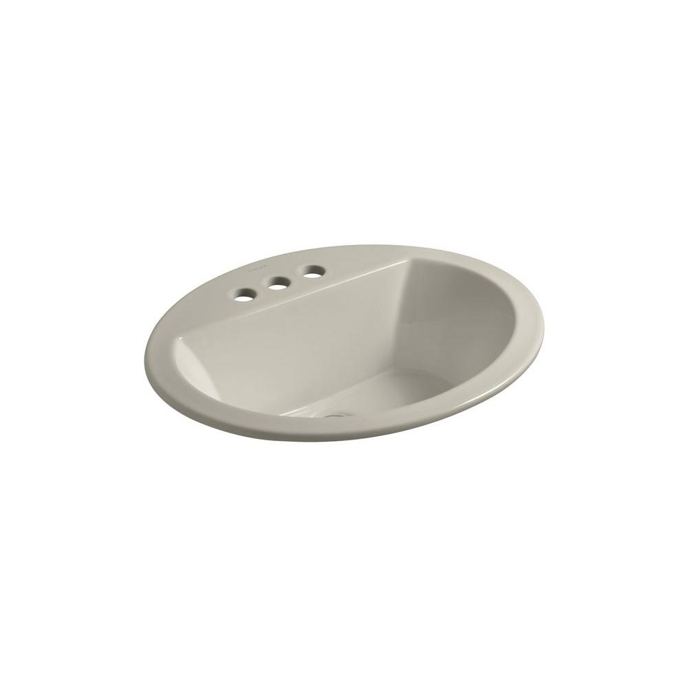 Bryant Drop-In Vitreous China Bathroom Sink in Sandbar with Overflow Drain
