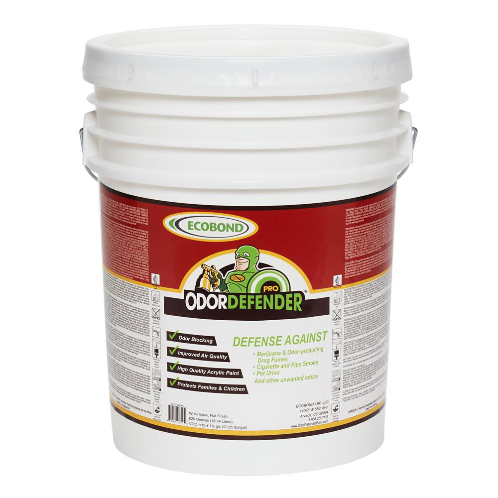 ECOBOND OdorDefender, 5-Gal. Off White Flat Smoke Eliminator & Odor Blocking Paint