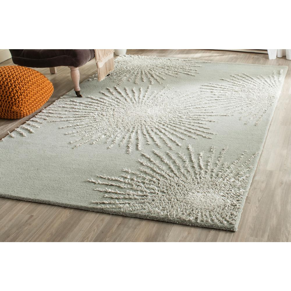 Safavieh Soho Grey/Ivory Wool 7 ft. 6 in. x 9 ft. 6 in. Area Rug