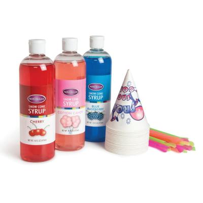 Premium Snow Cone Syrup Party Kit in Red