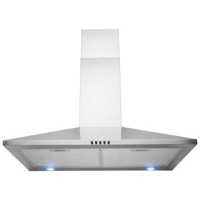30 in. 201 CFM Wall Mount Range Hood in Stainless Steel with LEDs and Push Control
