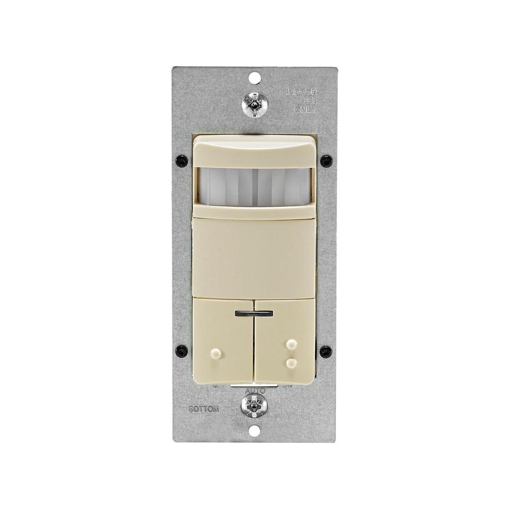 Leviton Decora Dual-Relay Passive Infrared Wall Switch Occupancy Sensor CA Only - Ivory-DISCONTINUED