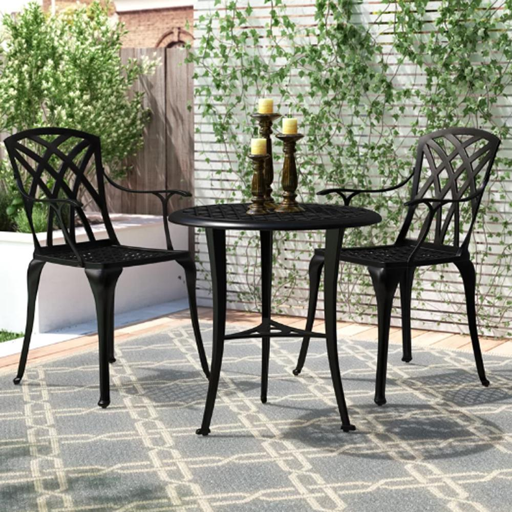 Nuu Garden 3 Piece Aluminum Outdoor Patio Bistro Set Scd001 01 01