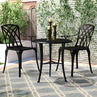 3 Piece Aluminum Outdoor Patio Bistro Set