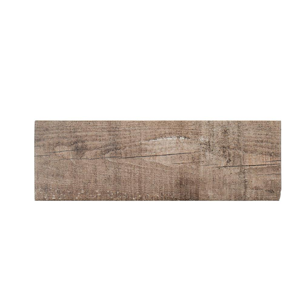 Teakwood 4 in. x 12 in. Porcelain Wall Tile