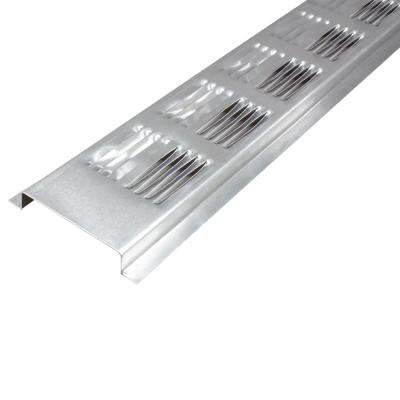 8 ft. Louvered Aluminum Continuous Retrofit Soffit Vent in Mill (Sold in 50-Pieces/Carton Only)