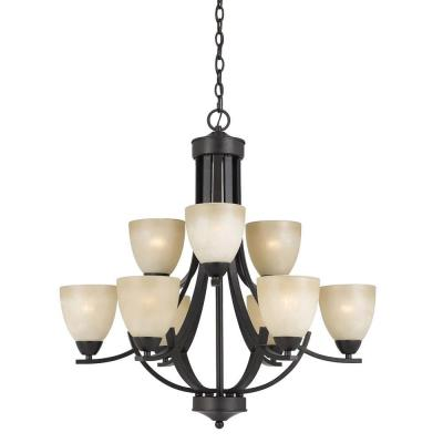 Galeri 9-Light Bronze Chandelier