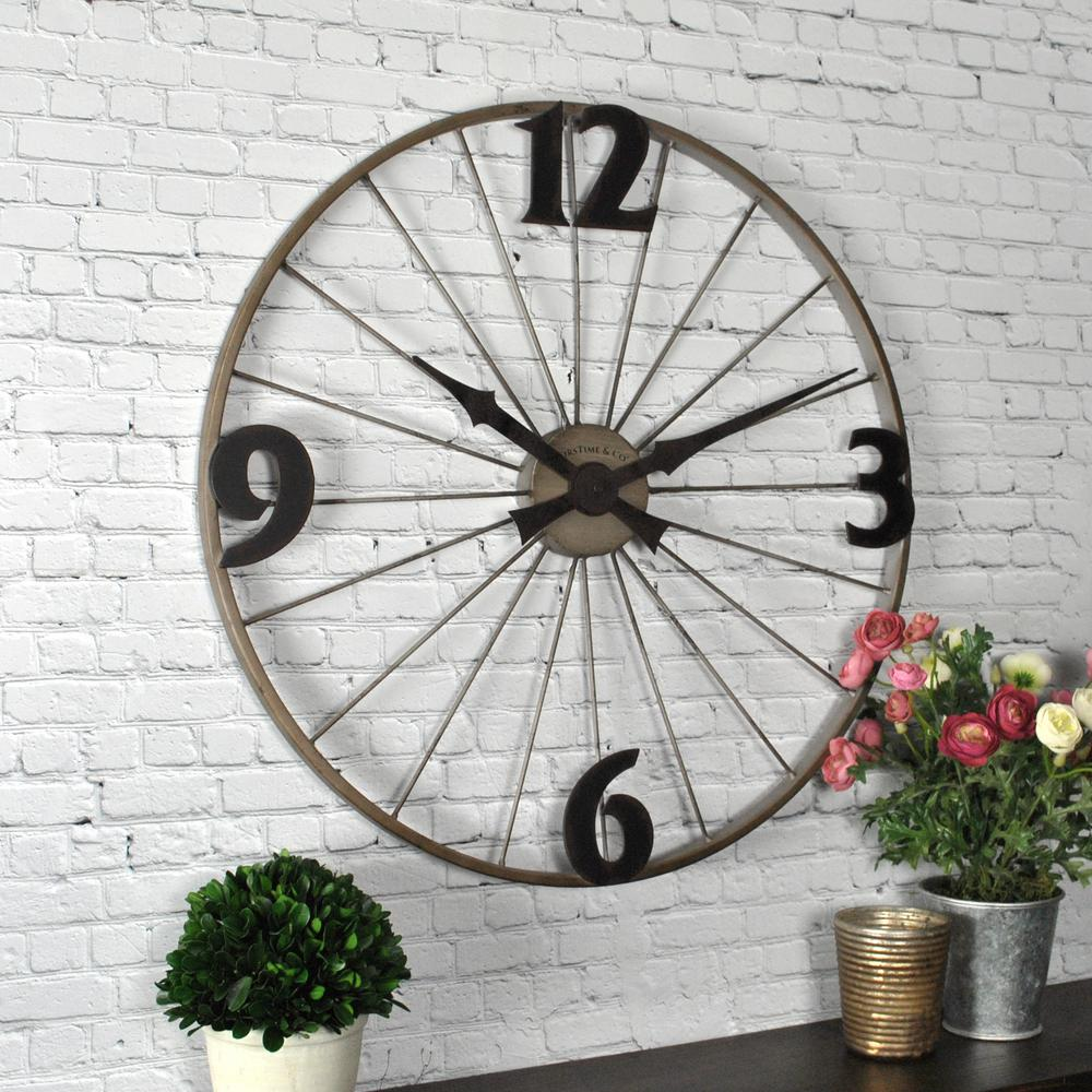 FirsTime Bicycle Wheel Wall Clock-50077