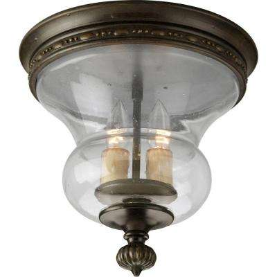 Fiorentino Collection 2-Light Forged Bronze Flushmount