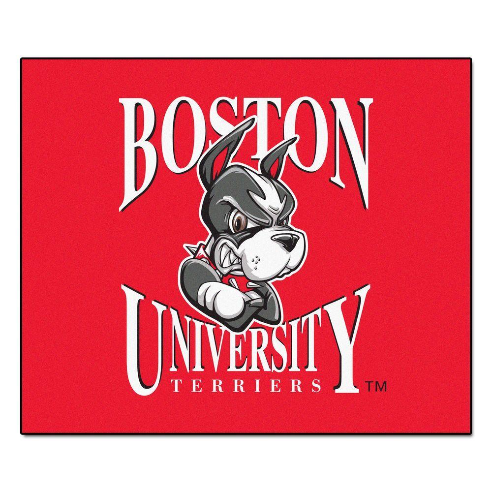 NCAA Boston University Red 5 ft. x 6 ft. Area Rug