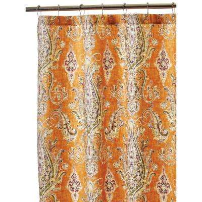 Karani 72 in. Shower Curtain in Cognac