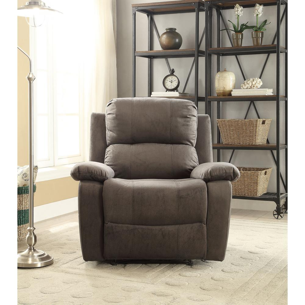 Acme Furniture Charcoal Bina Memory Foam Recliner-59525 - The Home Depot & Acme Furniture Charcoal Bina Memory Foam Recliner-59525 - The Home ... islam-shia.org
