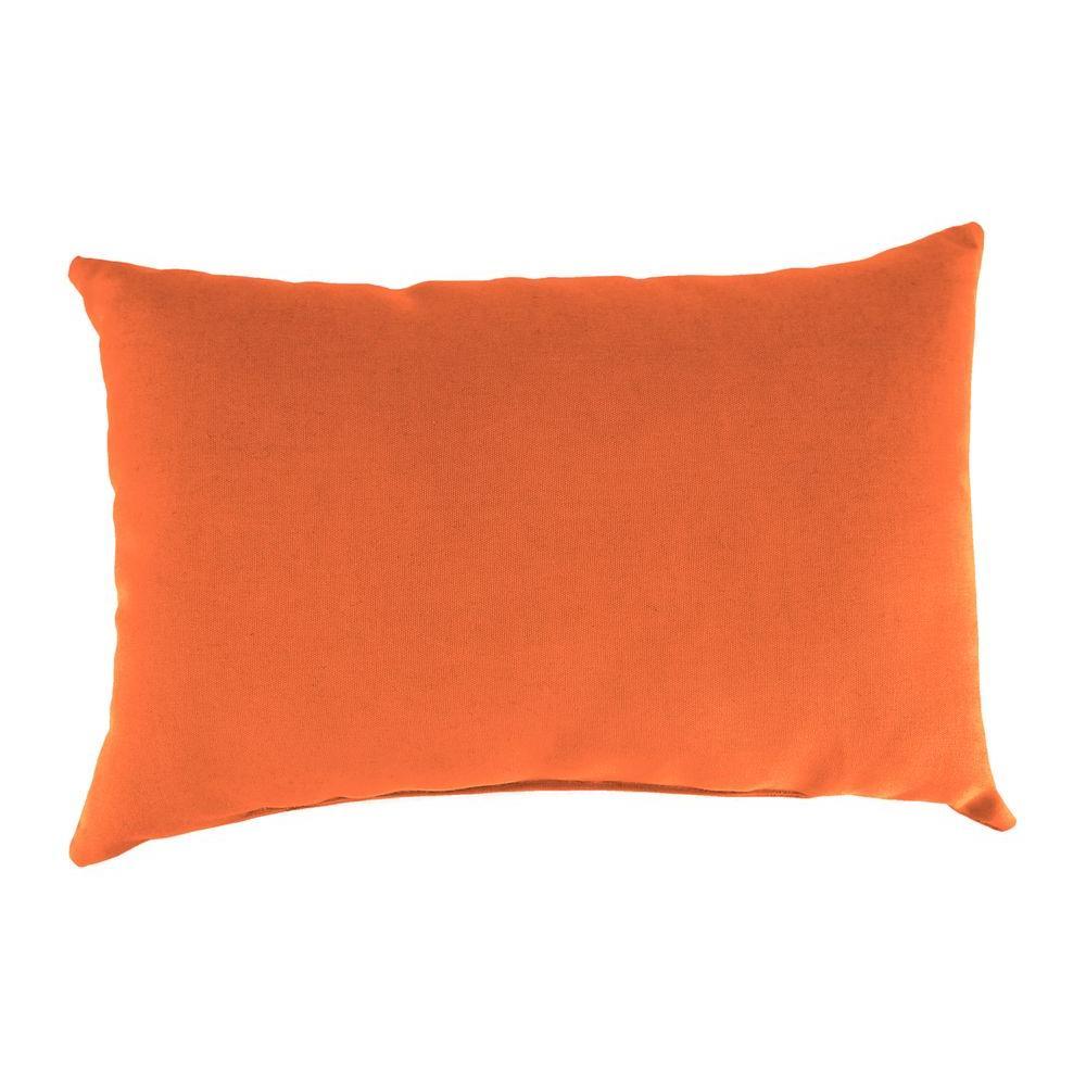 Sunbrella 19 in. x 12 in. Canvas Tuscan Lumbar Outdoor Throw Pillow