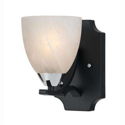 Athens 1-Light Black Sconce