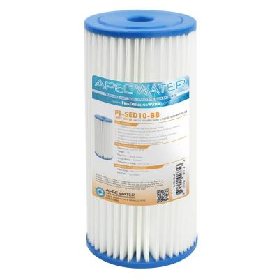 Whole House 4.5 in. x 10 in. 30 Micron Reusable and Pleated Sediment Water Filter Cartridge