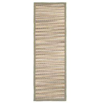 Shimmer Natural Fiber Gray 2 ft. 6 in. x 7 ft. 9 in. Plush Rectangle Runner Rug