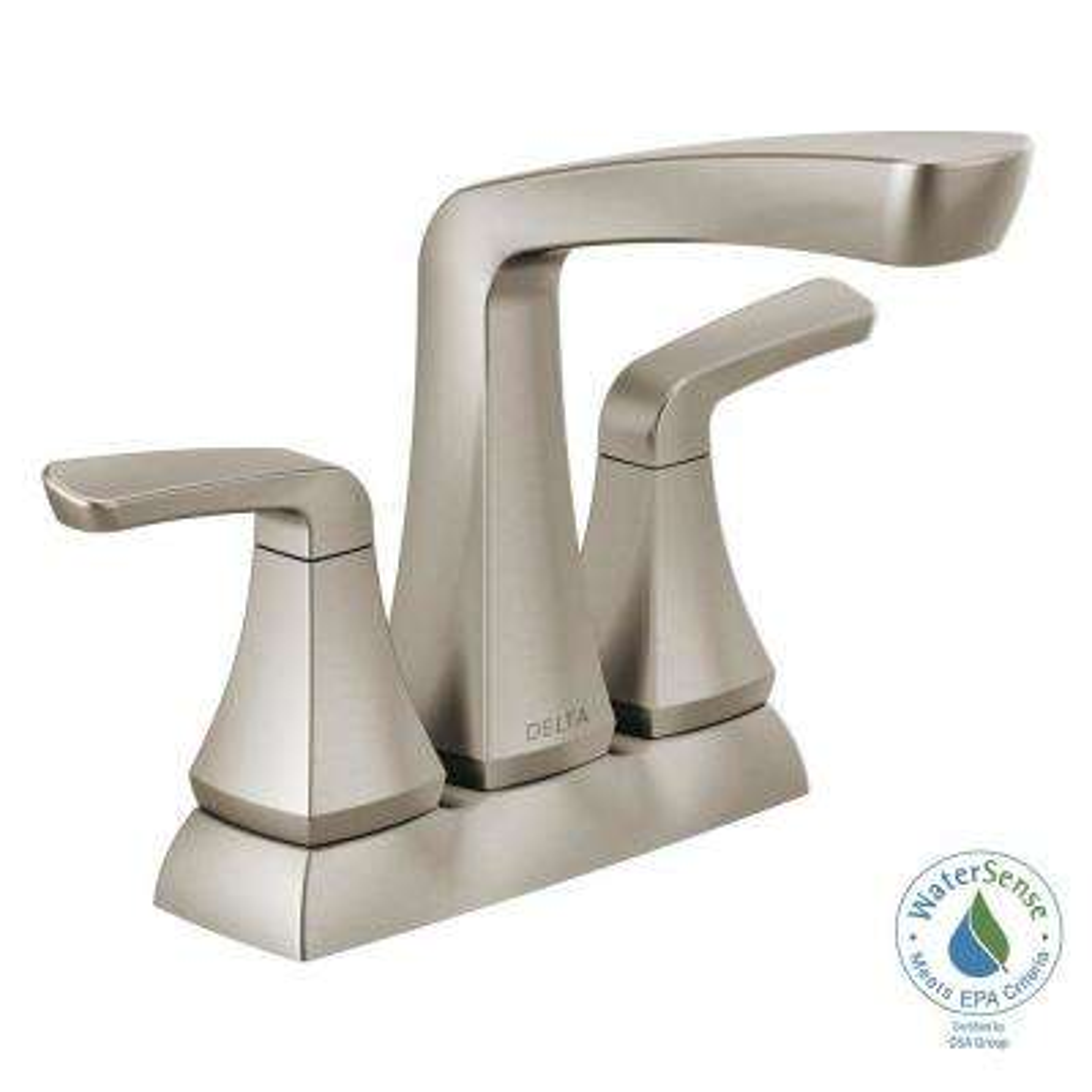 Vesna 4 in. Centerset 2-Handle Bathroom Faucet in SpotShield Brushed Nickel