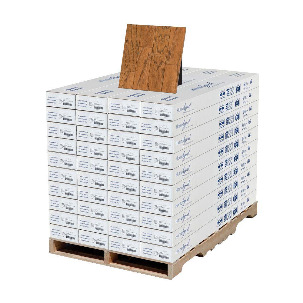 Home Legend Hickory Gunstock 3/8 in. T x 7 in. W x Random Length Engineered Hardwood Flooring (708 sq. ft. / pallet)