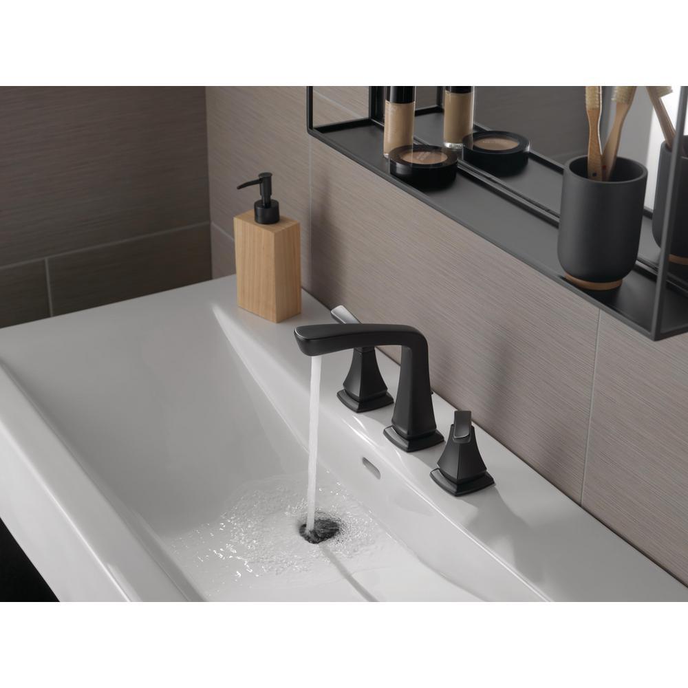 Vesna 8 in. Widespread 2-Handle Bathroom Faucet in Matte Black