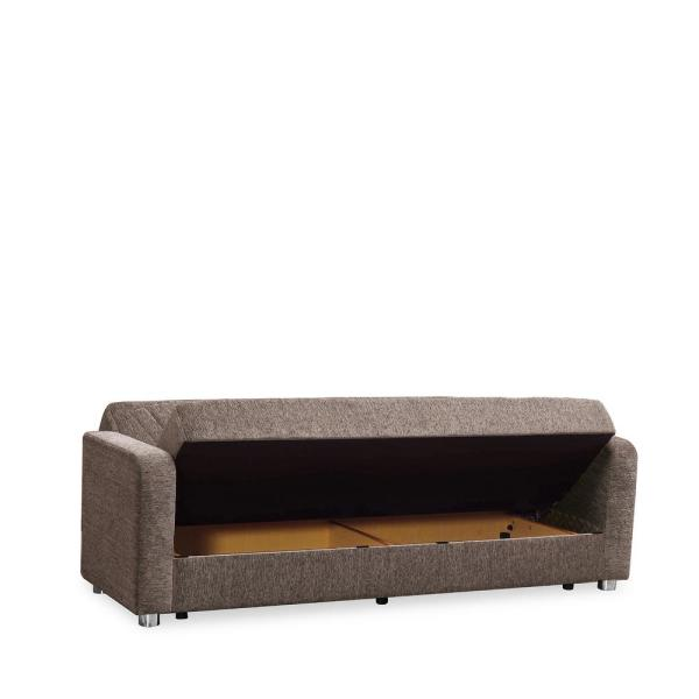 Beige Fabric Uphostery Sofa Sleeper Bed