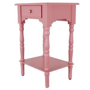 Pleasant Decor Therapy Coral Pink Side Accent Table Fr8718 The Home Machost Co Dining Chair Design Ideas Machostcouk