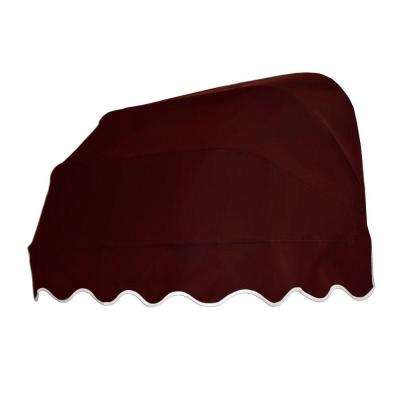 5 ft. Georgia Retractable Elongated Dome Awning (31 in. H x 24 in. D) in Burgundy