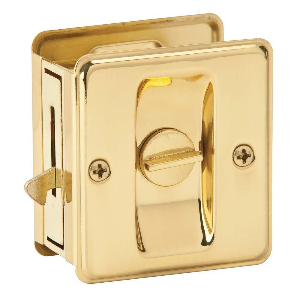 Schlage Bright Brass Privacy Sliding Door Lock