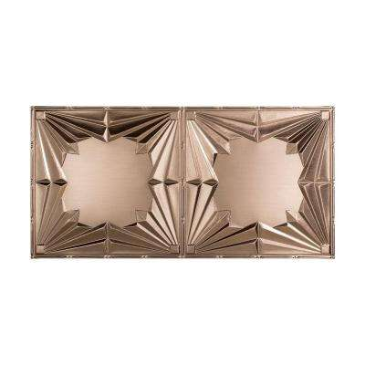 Art Deco - 2 ft. x 4 ft. Glue-up Ceiling Tile in Brushed Nickel
