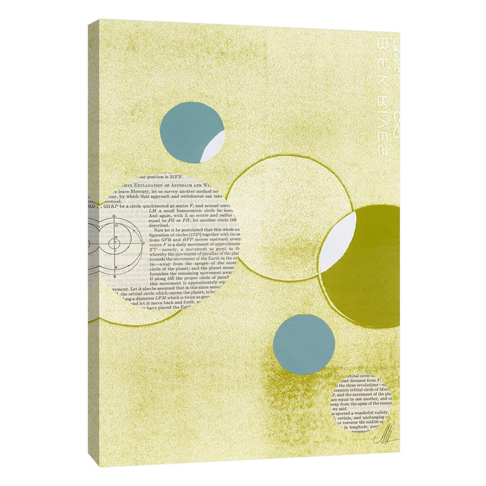 PTM Images 12.in x 10.in \'\'Light Lime Word Bubble\'\' Printed Canvas ...