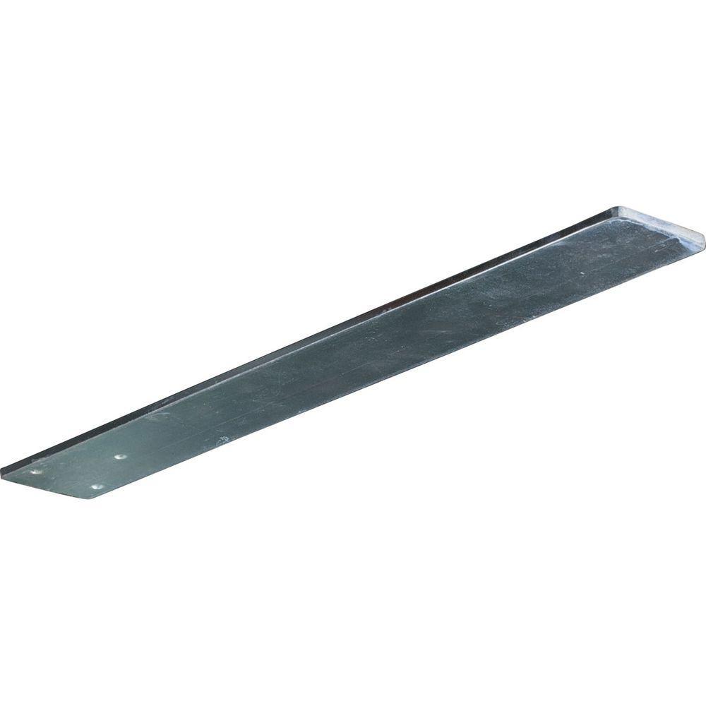 Ekena Millwork 20 in. x 3 in. x 1/4 in. Steel Unfinished Metal Logan Bracket