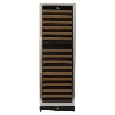 170-Bottle Dual Zone Wine Cooler in Stainless Steel