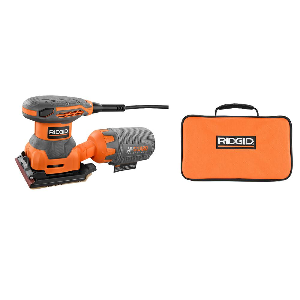 RIDGID 2.4 Amp 1/4 Sheet Sander with AIRGUARD Technology