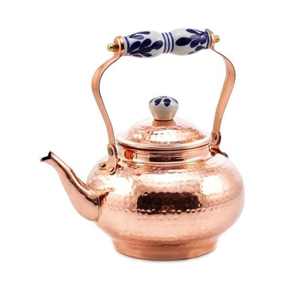 Old Dutch 8 Cup Stovetop Tea Kettle In Copper 1868 The Home Depot