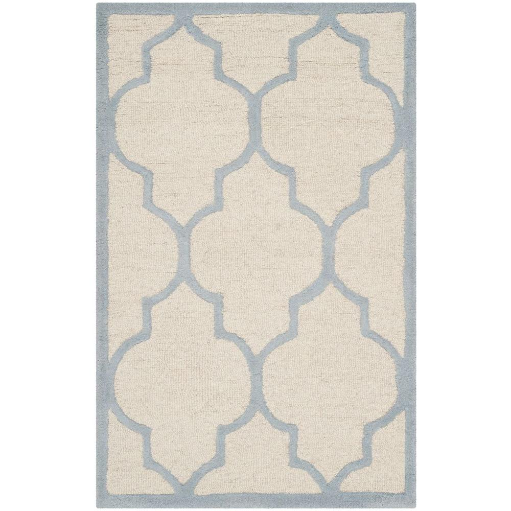 Cambridge Ivory/Light Blue 2 ft. x 3 ft. Area Rug