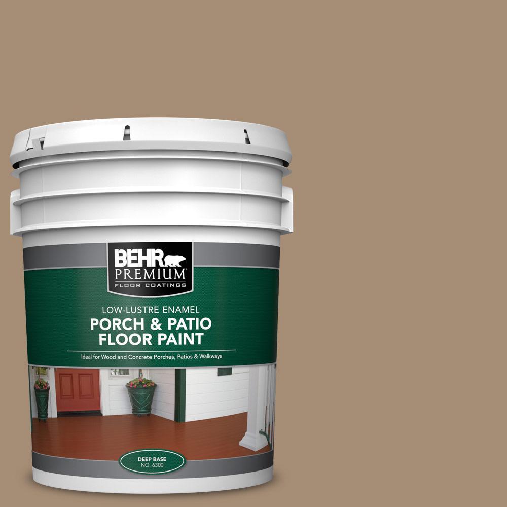 5 gal. #SC-121 Sandal Low-Lustre Enamel Interior/Exterior Porch and Patio Floor Paint