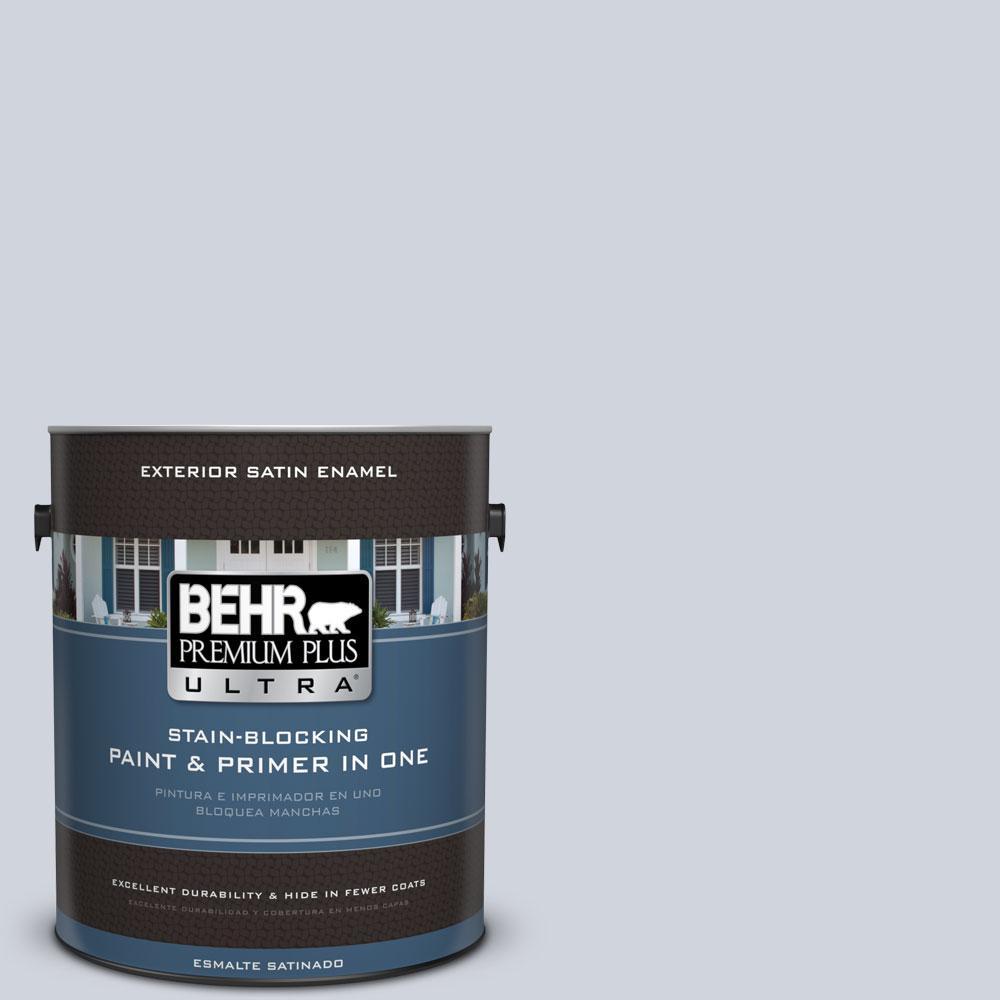 BEHR Premium Plus Ultra 1-gal. #S550-1 Blueberry Whip Satin Enamel Exterior Paint