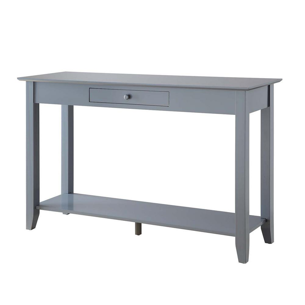 Convenience Concepts American Heritage Gray Console Table