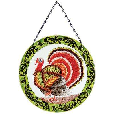12 in. Glass Sun-Catcher Turkey