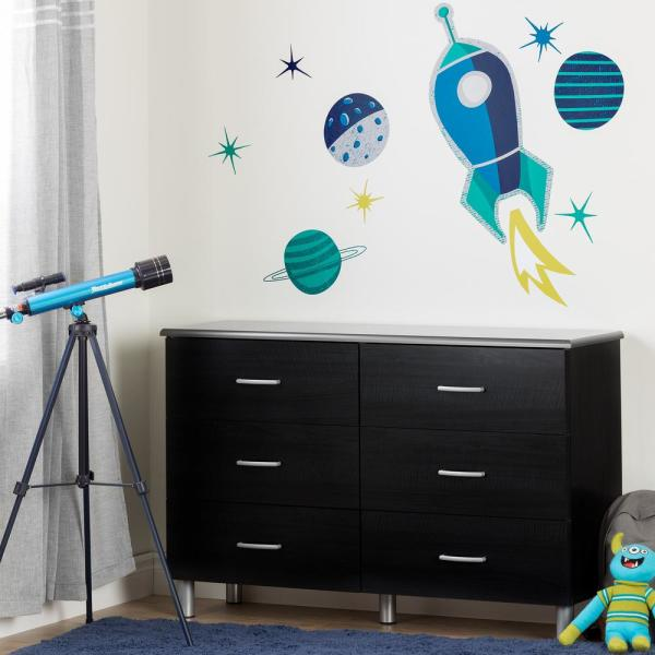 South Shore DreamIt Blue and Turquoise Cosmic Wall Decals 100090