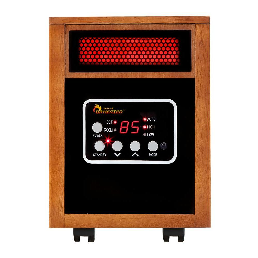 Dr infrared heater original 1500 watt infrared portable for Electric heating systems homes