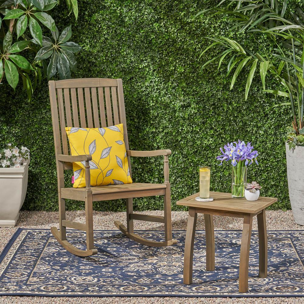 Arcadia Grey 2-Piece Wood Patio Conversation Seating Set